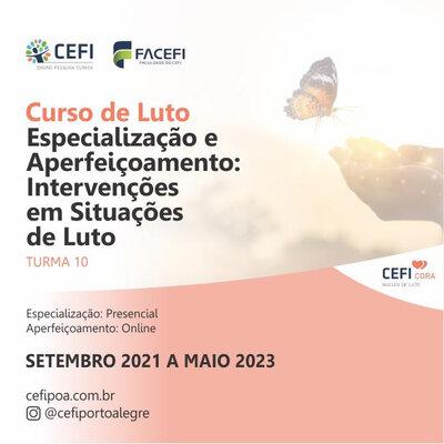 CURSO DE LUTO -  APERFEIÇOAMENTO EM INTERVENÇÃO EM SITUAÇÕES DE LUTO