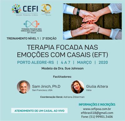 Treinamento Nível 1 (Externship): Terapia Focada nas Emoções (EFT) com casais