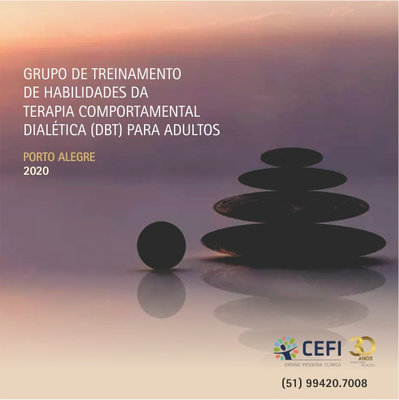Grupo de Treinamento de Habilidades da Terapia Comportamental Dialética DBT para adultos