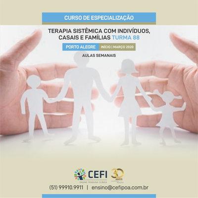 Curso de Especialização em Terapia Sistêmica com Indivíduos, Casais e Famílias (Semanal)